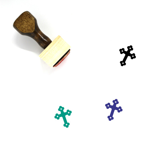 Cross Wooden Rubber Stamp No. 267