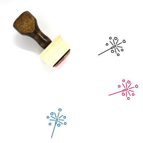 Sparklers Wooden Rubber Stamp No. 29