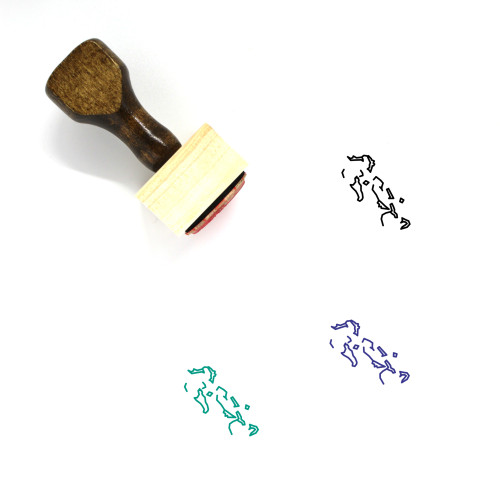Bahamas Wooden Rubber Stamp No. 29