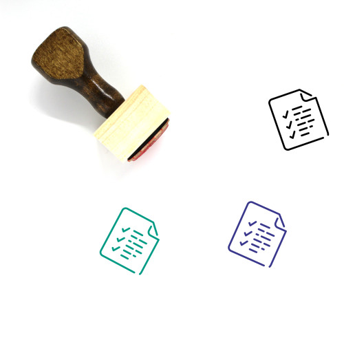 Exams Wooden Rubber Stamp No. 11