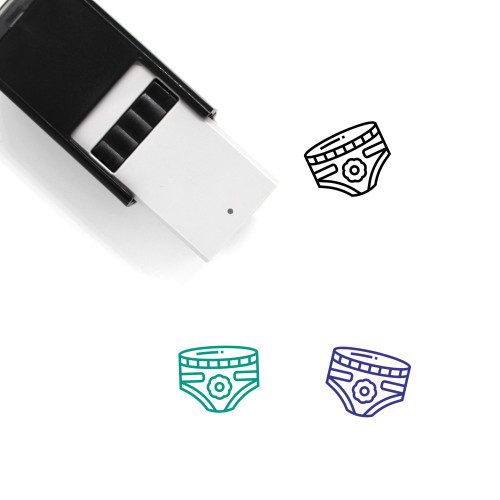 Diapers Self-Inking Rubber Stamp No. 1