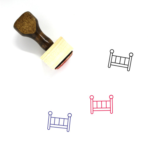 Crib Wooden Rubber Stamp No. 37