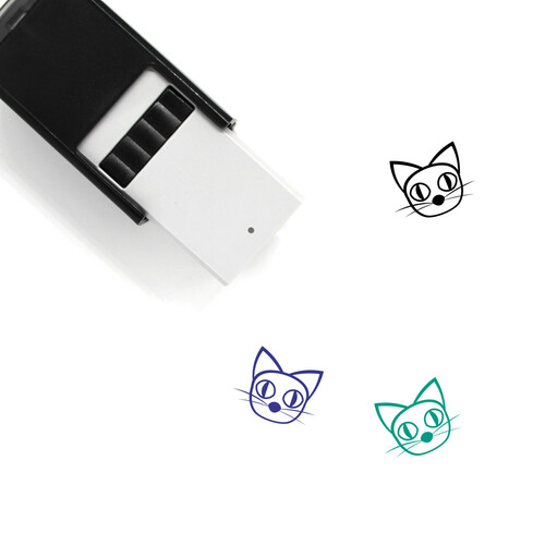 Creepy Cat Self-Inking Rubber Stamp No. 1