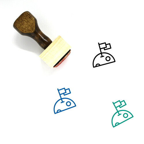 Planet Wooden Rubber Stamp No. 289