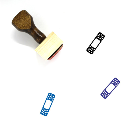 Band Aid Wooden Rubber Stamp No. 82