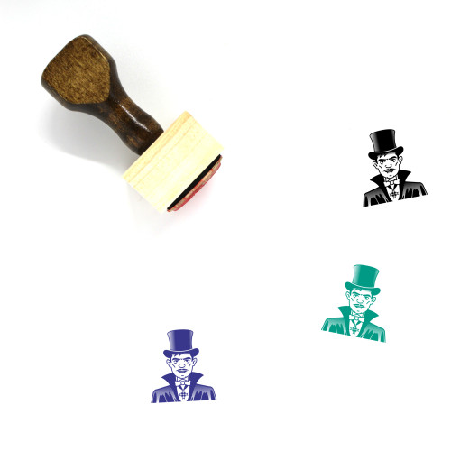 Count Wooden Rubber Stamp No. 10