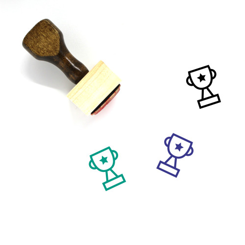 Trophy Wooden Rubber Stamp No. 432