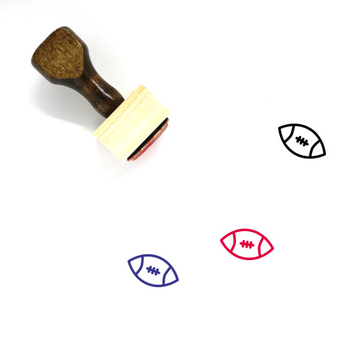 Rugby Wooden Rubber Stamp No. 43