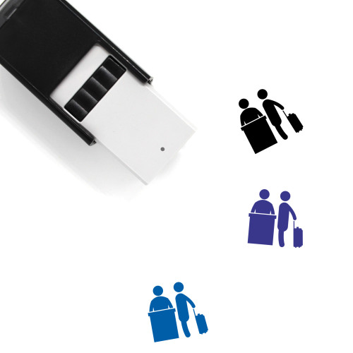 Airport Helping Desk Self-Inking Rubber Stamp No. 3