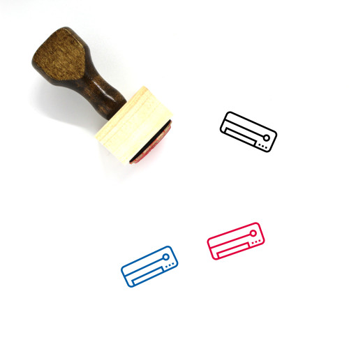 Air Conditioner Wooden Rubber Stamp No. 39