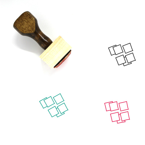 Sticky Notes Wooden Rubber Stamp No. 34