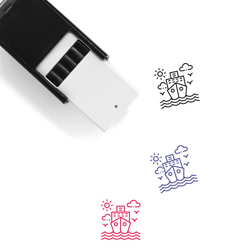 Ship Self-Inking Rubber Stamp No. 156