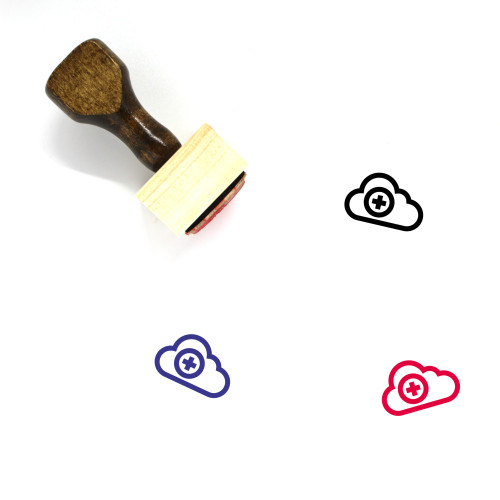 Cloud Add Wooden Rubber Stamp No. 43