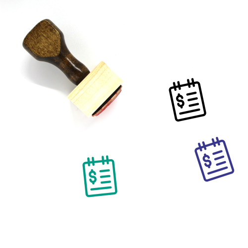 Business Calendar Wooden Rubber Stamp No. 18