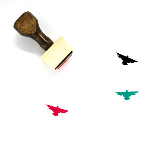Falcon Wooden Rubber Stamp No. 7