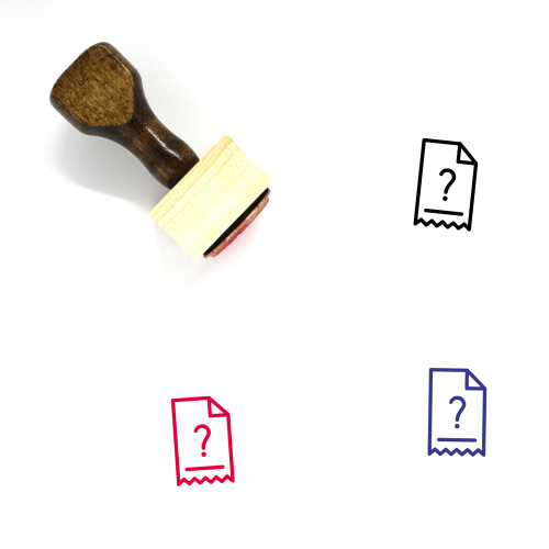 Question Mark Invoice Wooden Rubber Stamp No. 2