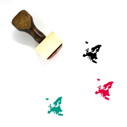 Europe Wooden Rubber Stamp No. 41