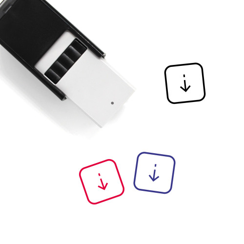 Down Self-Inking Rubber Stamp No. 184