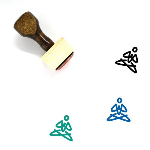 Yoga Wooden Rubber Stamp No. 101