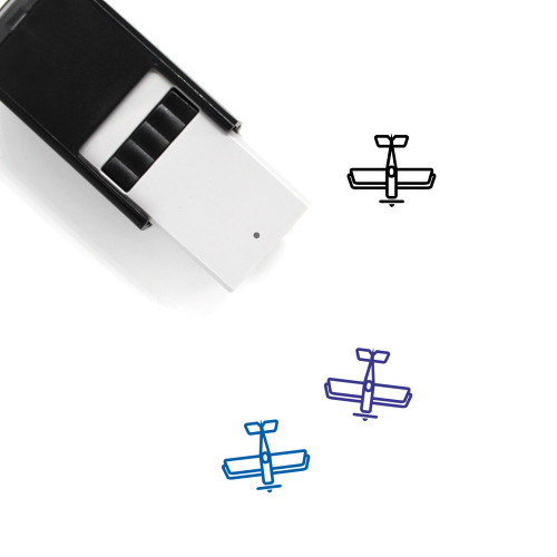 Biplane Self-Inking Rubber Stamp No. 1