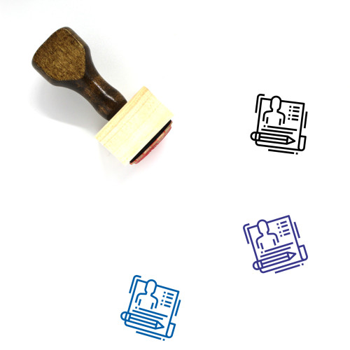 Applicant Wooden Rubber Stamp No. 11