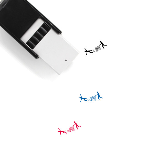 Shopping Accident Self-Inking Rubber Stamp No. 1