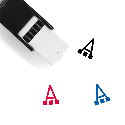 Font Color Self-Inking Rubber Stamp No. 2
