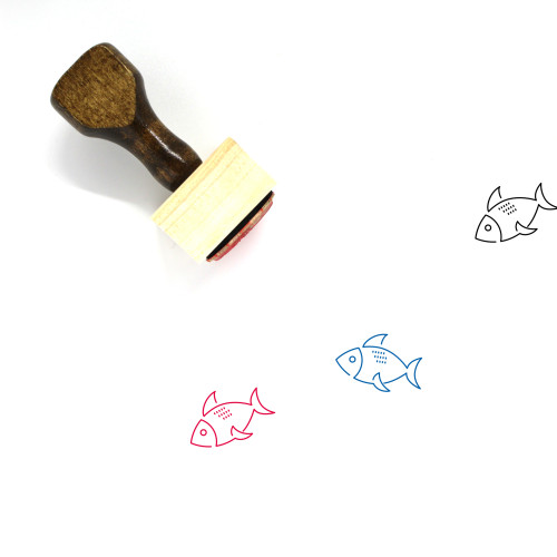 Fish Wooden Rubber Stamp No. 291