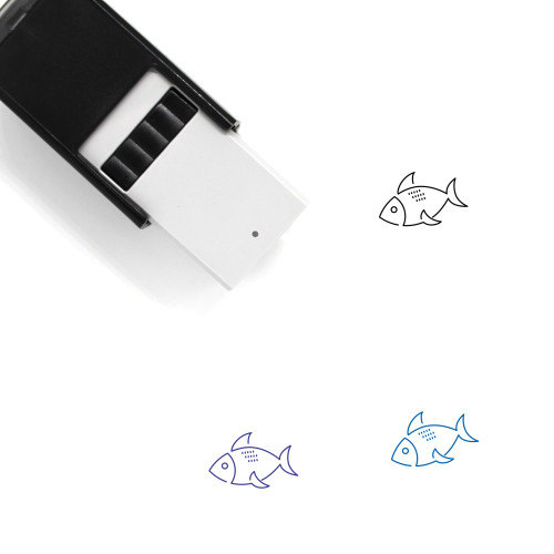 Fish Self-Inking Rubber Stamp No. 291