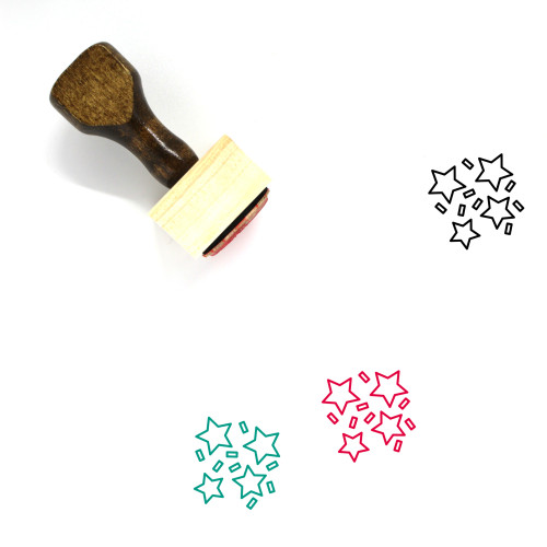 Party Wooden Rubber Stamp No. 51
