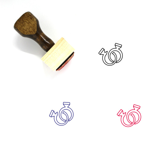 Rings Wooden Rubber Stamp No. 51