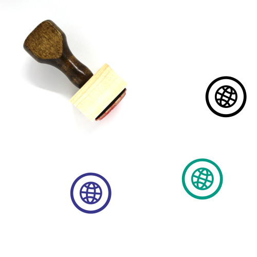 Globe Wooden Rubber Stamp No. 1324