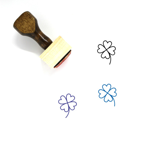 Clover Wooden Rubber Stamp No. 105