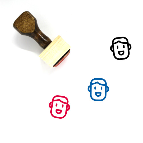 Brother Wooden Rubber Stamp No. 4