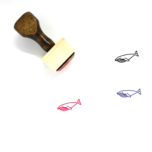 Whale Body Wooden Rubber Stamp No. 6