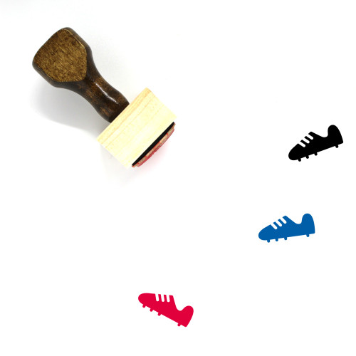 Cleat Wooden Rubber Stamp No. 9