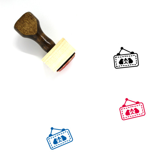 Welcome Wooden Rubber Stamp No. 4