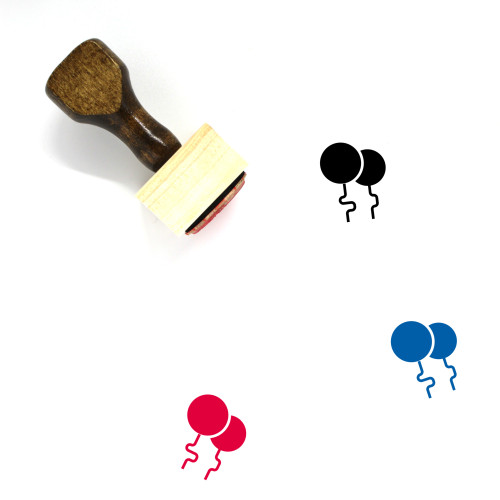 Balloons Wooden Rubber Stamp No. 80
