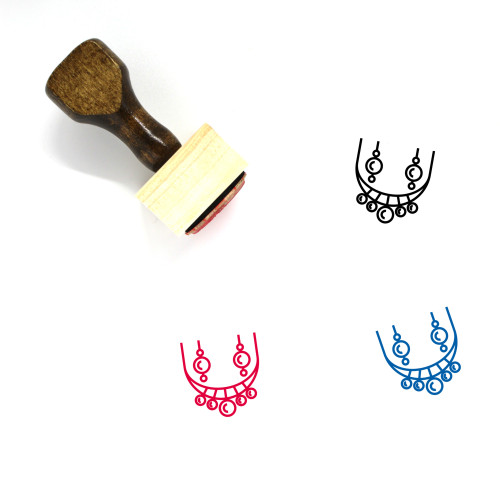 Jewellery Wooden Rubber Stamp No. 30