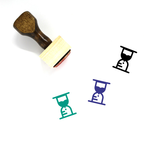 Hourglass Wooden Rubber Stamp No. 174