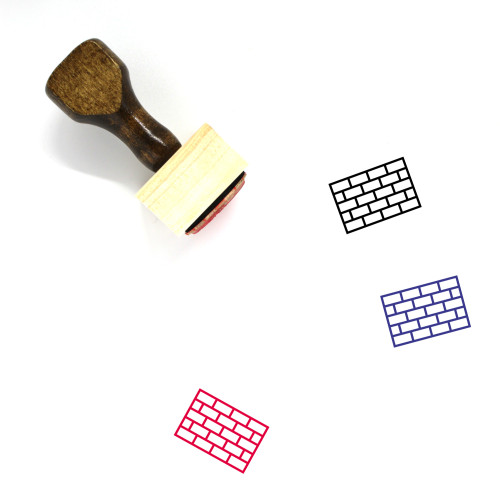 Brick Wall Wooden Rubber Stamp No. 68