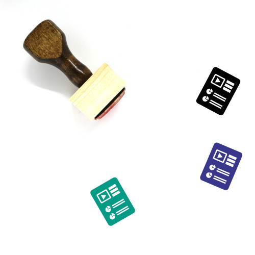 Report Document Wooden Rubber Stamp No. 42