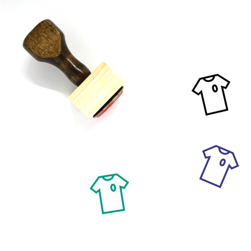 Soccer Jersey Wooden Rubber Stamp No. 2