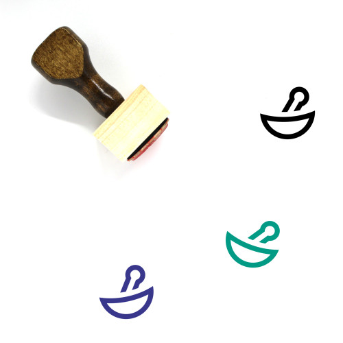 Mortar And Pestle Wooden Rubber Stamp No. 30