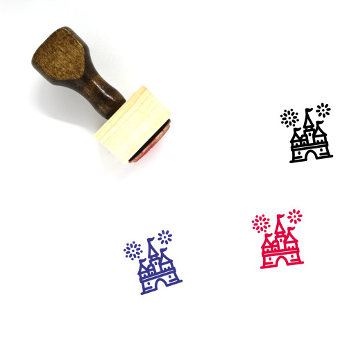 Castle Wooden Rubber Stamp No. 234