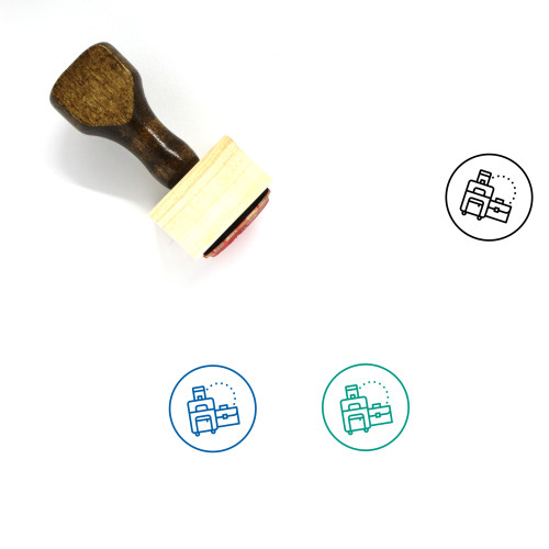 Luggage Wooden Rubber Stamp No. 132