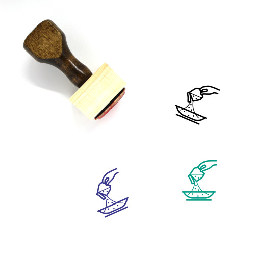 Cooking Porridge Wooden Rubber Stamp No. 4