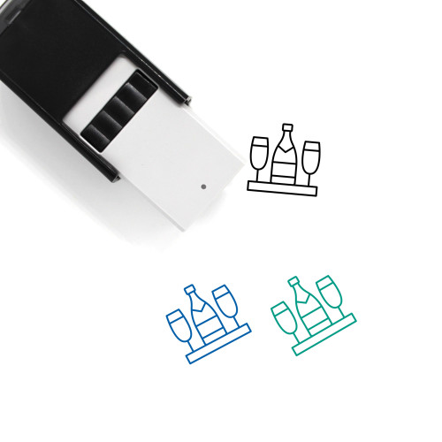 Champagne Self-Inking Rubber Stamp No. 60