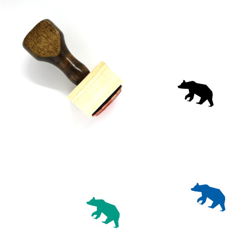 Bear Wooden Rubber Stamp No. 149
