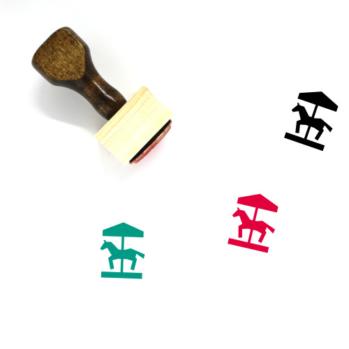 Carousel Wooden Rubber Stamp No. 18
